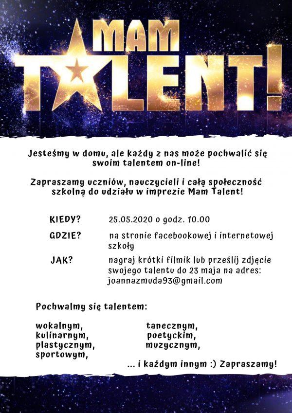 Mam Talent - plakat